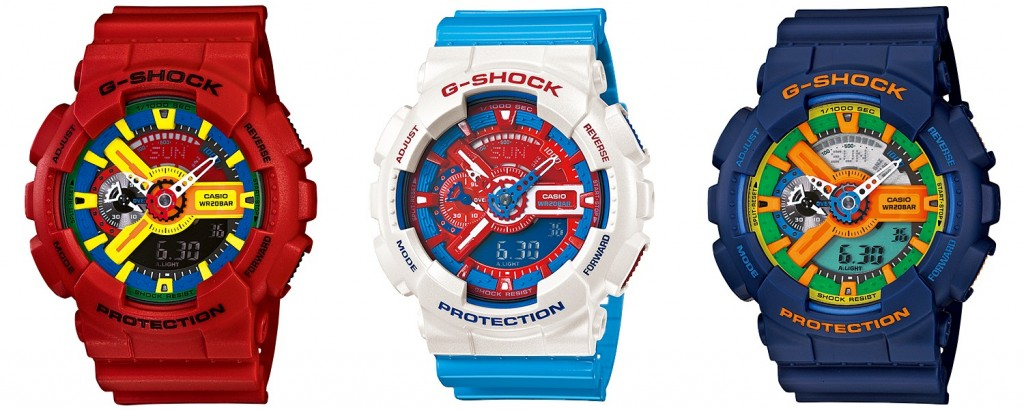 Casio G-Shock GA-110 colors
