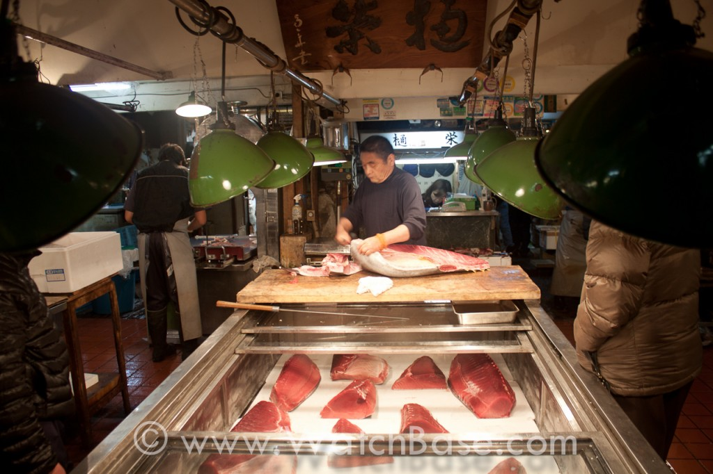 Alon in Japan - the fish market