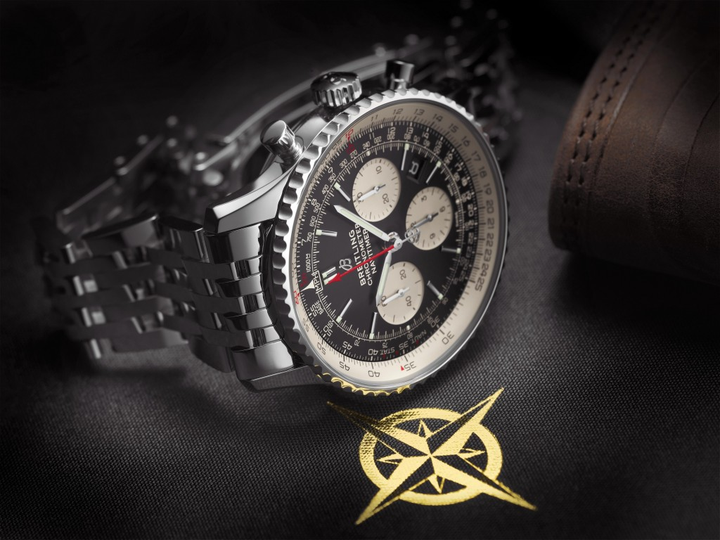 Navitimer 1 B01 Chronograph 43 with black dial and stainless steel Navitimer bracelet