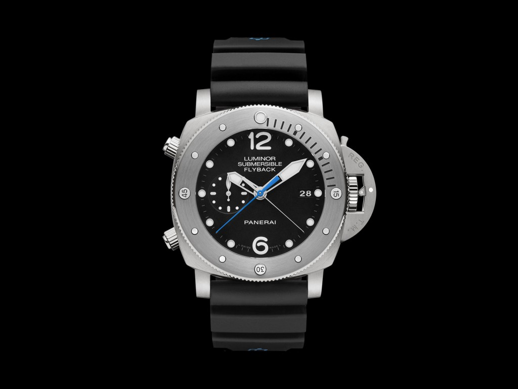Panerai Luminor Submersible 1950 3 Days Chrono Flyback Automatic Titanio PAM614
