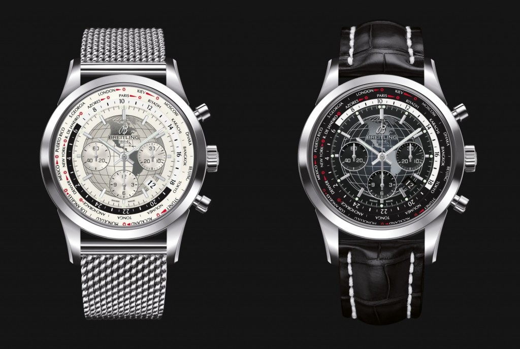 Breitling Transocean Chronograph Unitime - BaselWorld 2016 Silver & Black dial