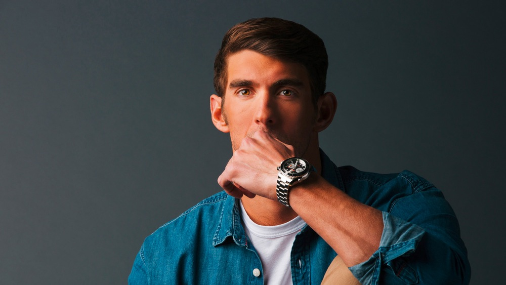 Michael Phelps & Seamaster Planet Ocean Chronograph - picture by Omega