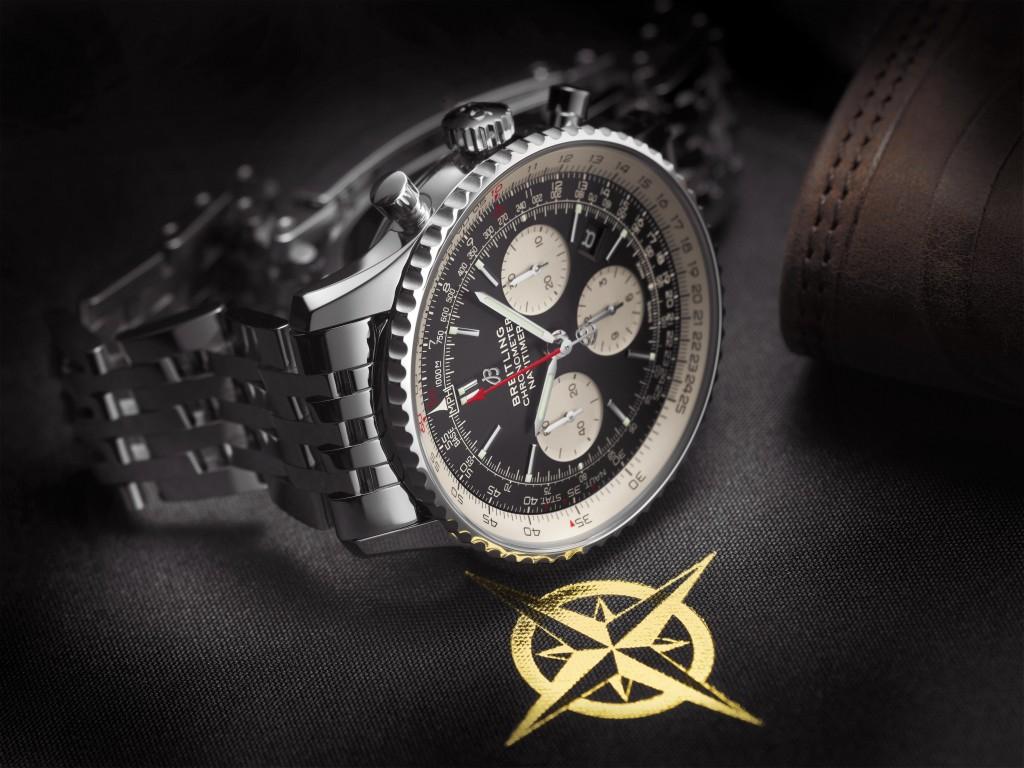 Navitimer 1 B01 Chronograph 43 with black dial and stainless steel Navitimer bracelet